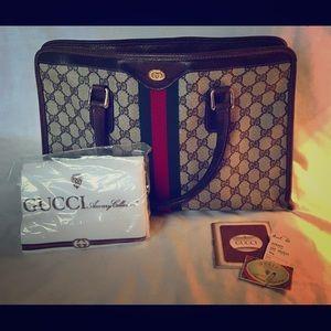 Vintage Large Duffle Gucci Handbag.